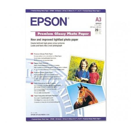 EPSON PREMIUM GLOSSY PHOTO PAPER, DIN A3, 255gsm, 20 loksnes