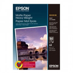 EPSON MATTE PAPER HEAVY WEIGHT - A4 - 50 loksnes