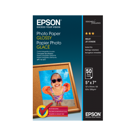 EPSON Photo Paper Glossy 250gsm A4 (50 loksnes)